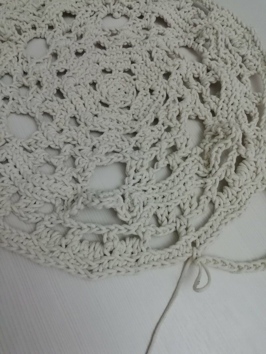 Эффектный ковер из бельевой веревки крючком  вязание,для дома и дачи