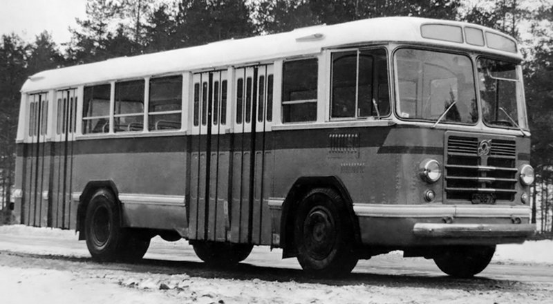 ЛиАЗ-Э676 Опытный история, советские автобусы, транспорт