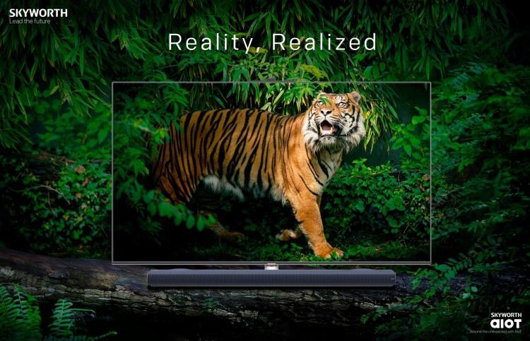 """75"""" 8K-телевизор Skyworth Q91 с саундбаром, HDR, камерой и центром умного дома выйдет в июне за $5999"""