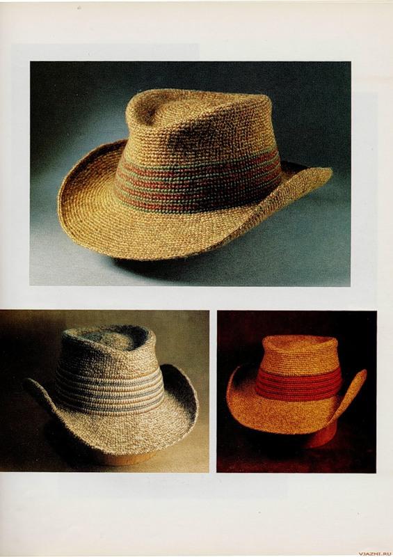 Эффектная мужская шляпа крючком