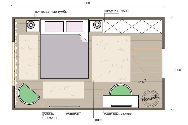 Дизайн сальни 14-15 кв.м