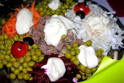 Вкусные салаты с говядиной
