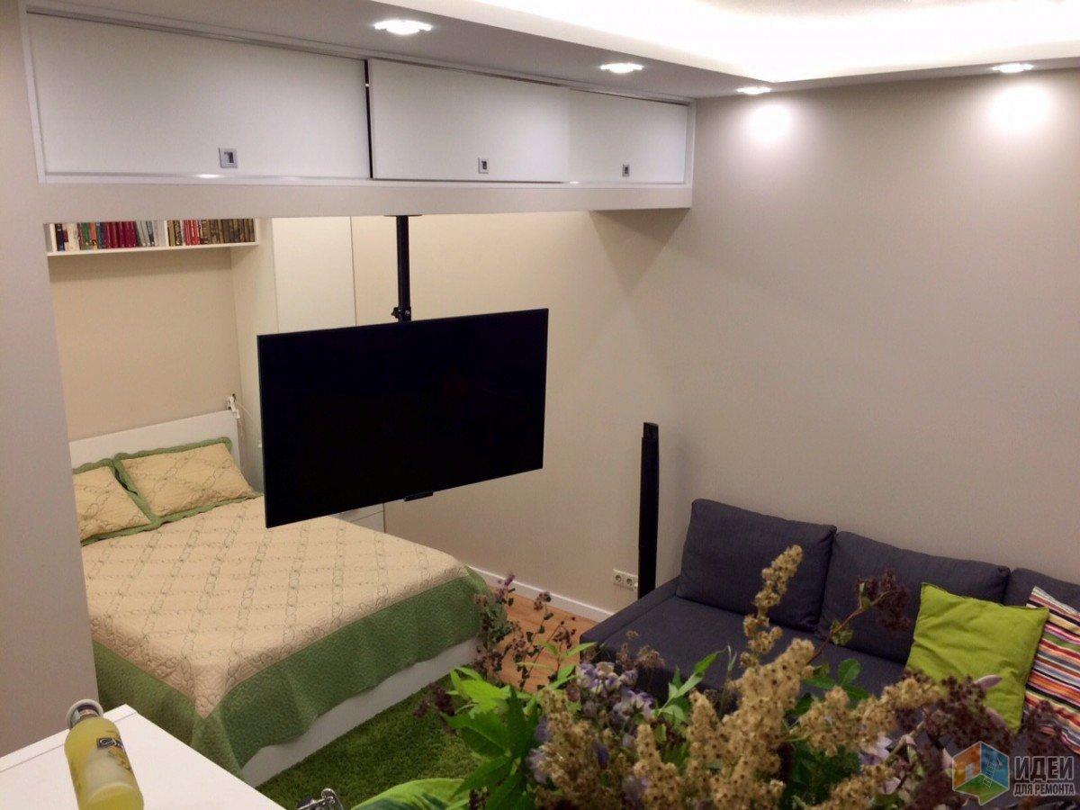 Спальня в квартире студии, зонирование студии спальня