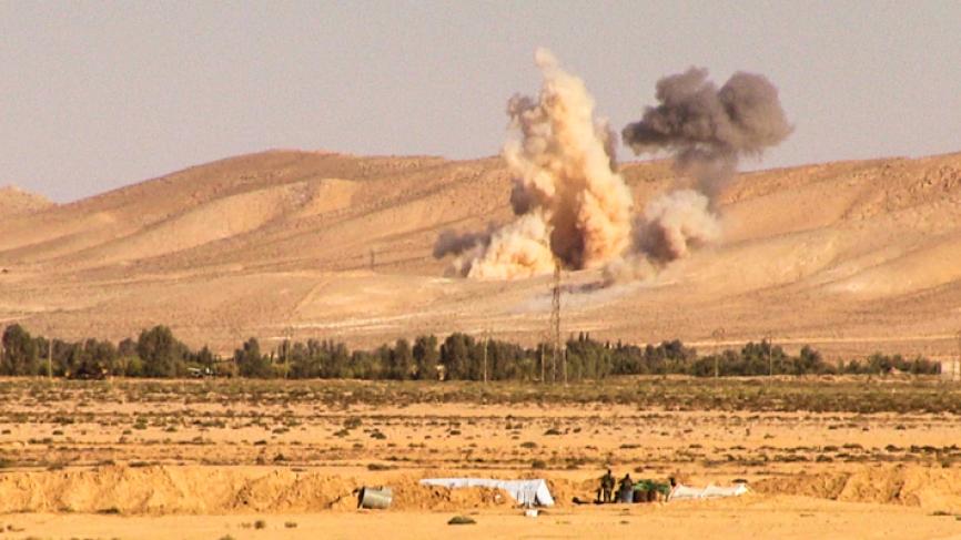 В сети появилось видео авиаудара ВВС США по проправительственным силам в Сирии