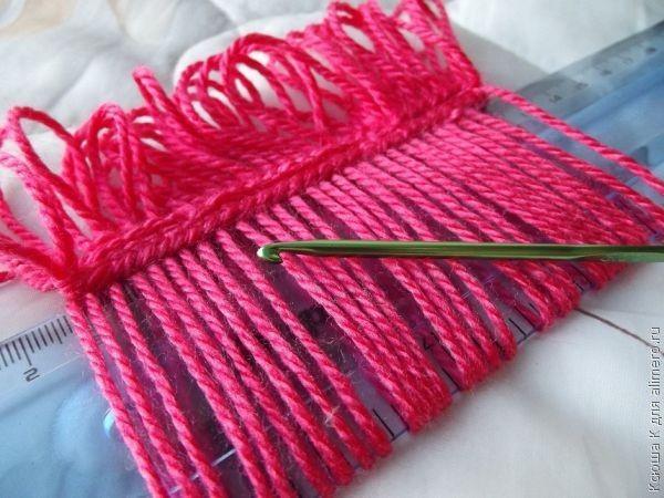 Вязание на линейке вязание,мастер-класс