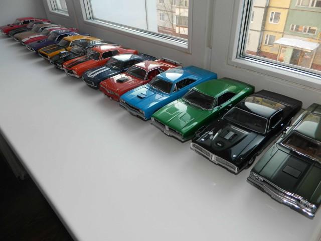 """Моя коллекция """"Мускулистых"""" авто в масштабе"""
