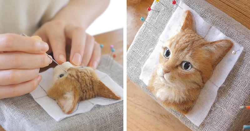 Очень красиво: японский мастер валяния из шерсти создаёт гиперреалистичных кошек