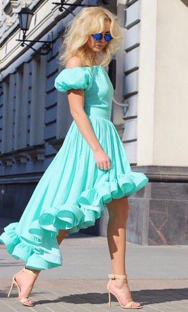 Как раскроить и как сшить платье барышня-крестьянка с юбкой с перепадом длины одежда