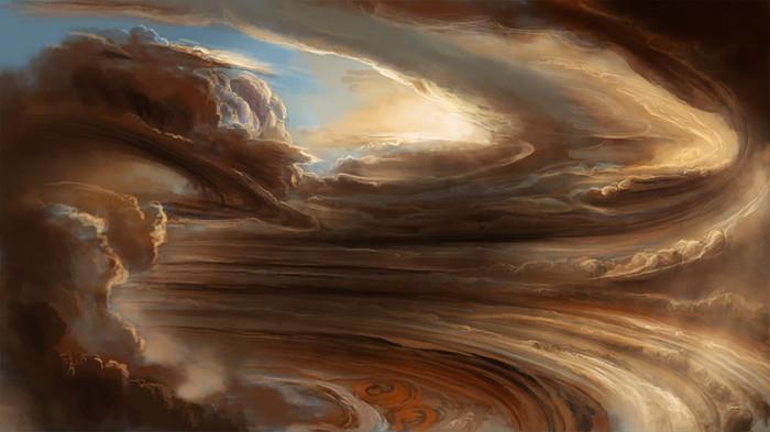 12. Буря на Юпитере космос, ученные