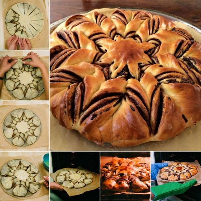 шоколадный пирог в форме звезды