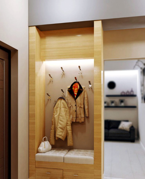 Оригинальная вешалка.   Фото: www.lbm-mebel.ru.