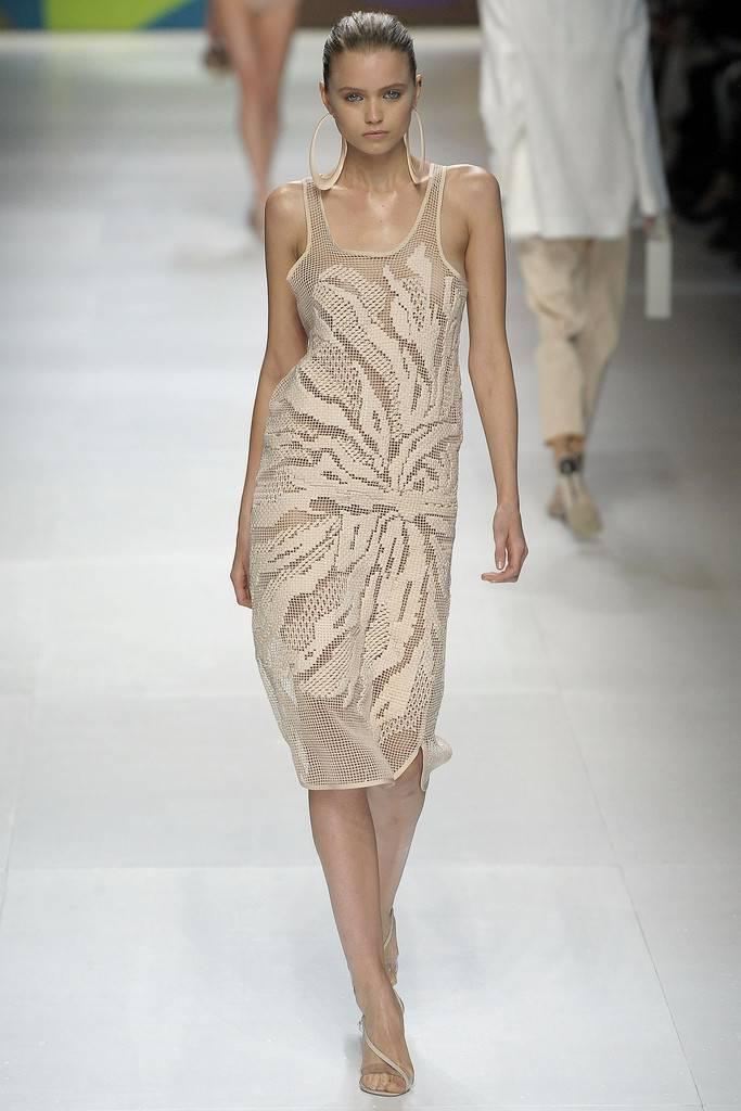Филейное платье с подиума. Схема