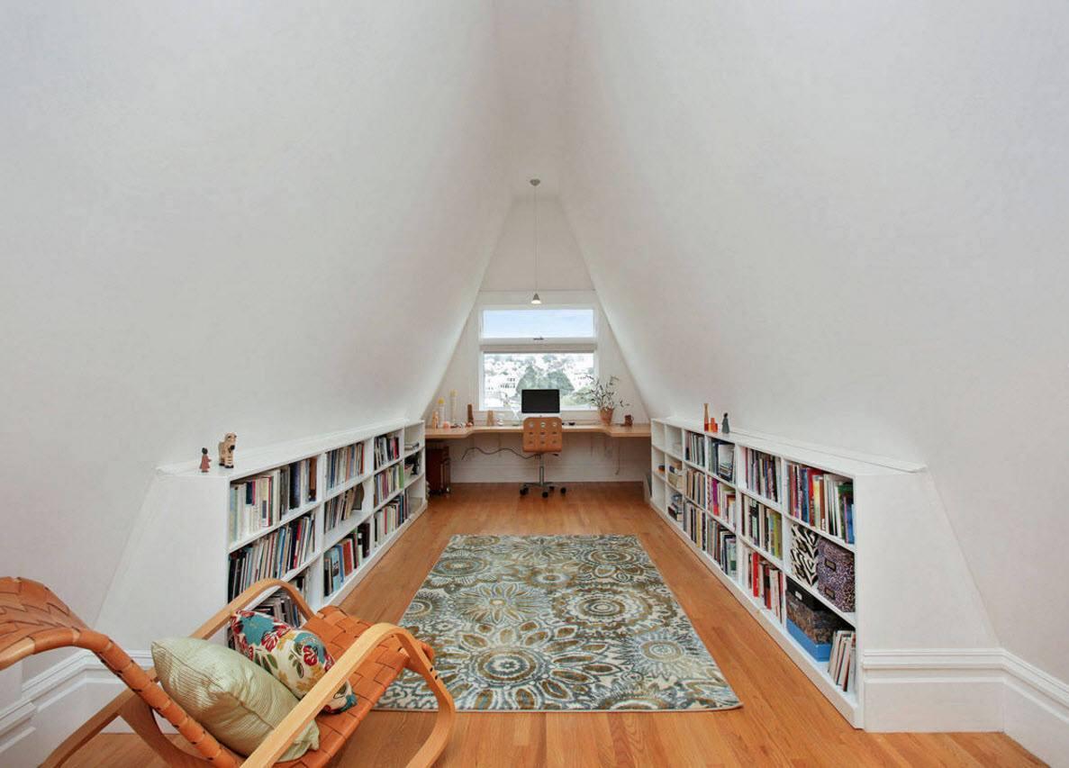 выгодно библиотека на чердаке в частном доме фото нём также творятся