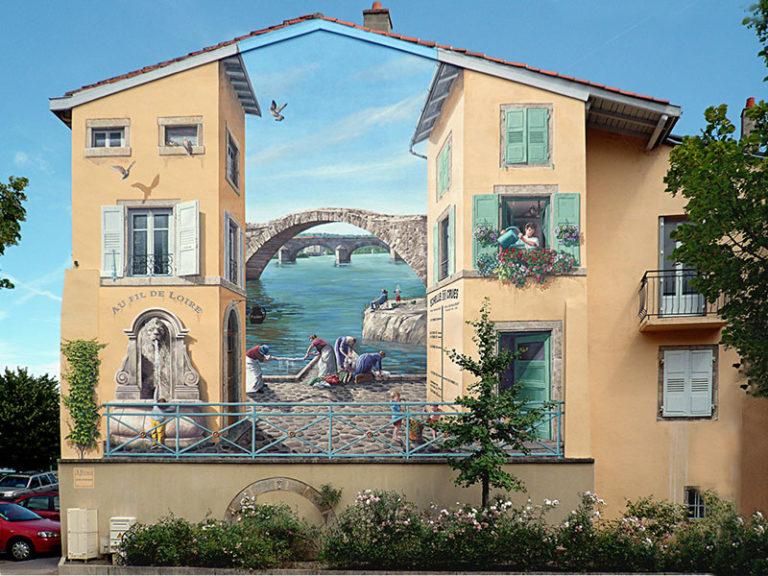 Эти неповторимые фрески во Франции от Патрика Коммеси сведут вас с ума. Сложно отличить нарисованное от реальности!