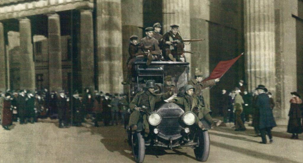 Революция в Германии  1918-19 г.  на редких архивных фото