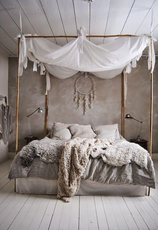 Спальня в стиле бохо шик