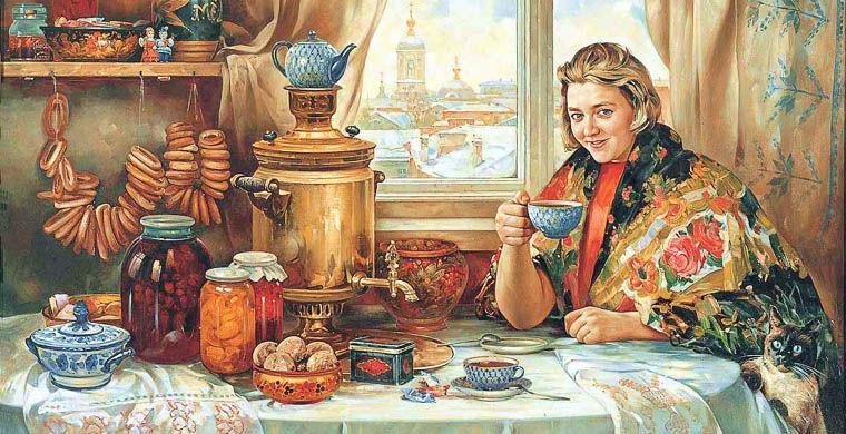 Русский чай вещи, люди, русские