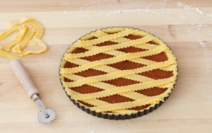 Рецепт пирога из песочного теста с абрикосовым вареньем