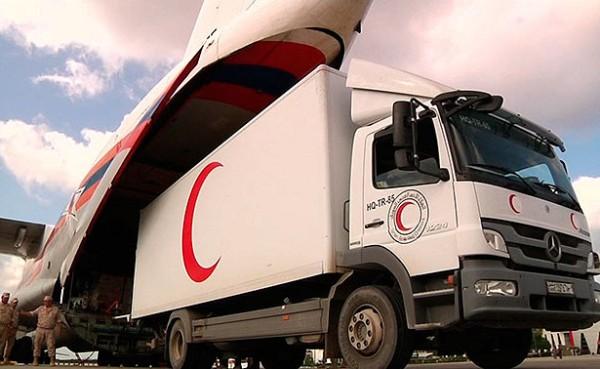 Армения собрала, Россия доставила свыше 100 тонн гумпомощи вСирию