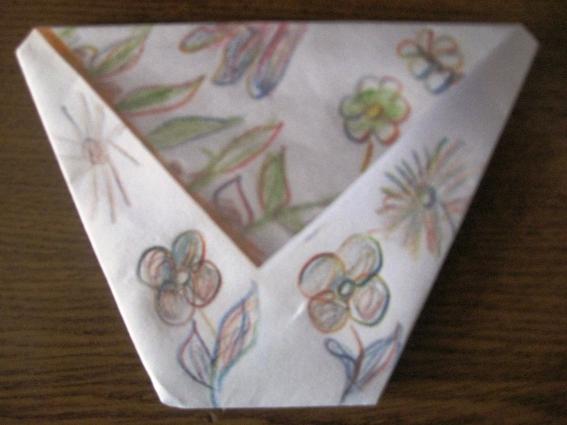 Беседа на первом занятии по оригами «Стаканчик»