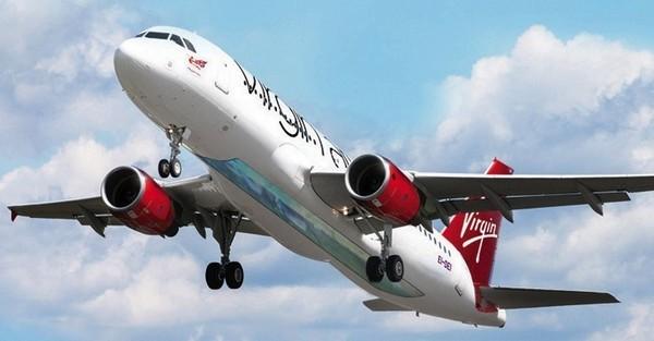 Стеклянный пол в самолетах Virgin Atlantic
