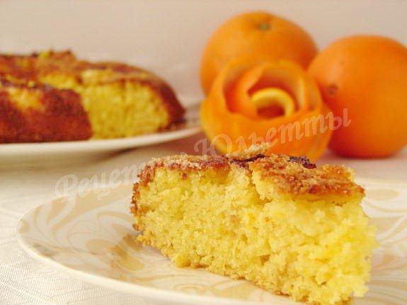 постный манник с апельсином