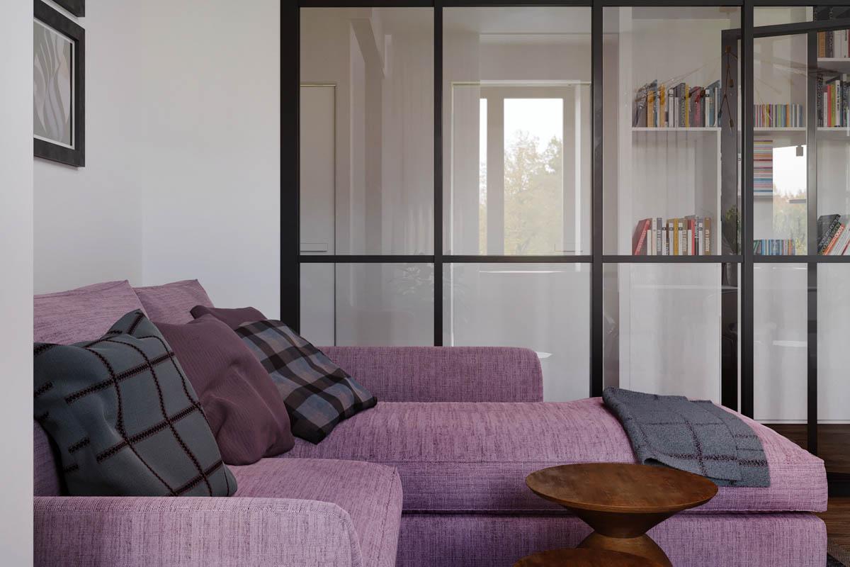 Purple-chaise