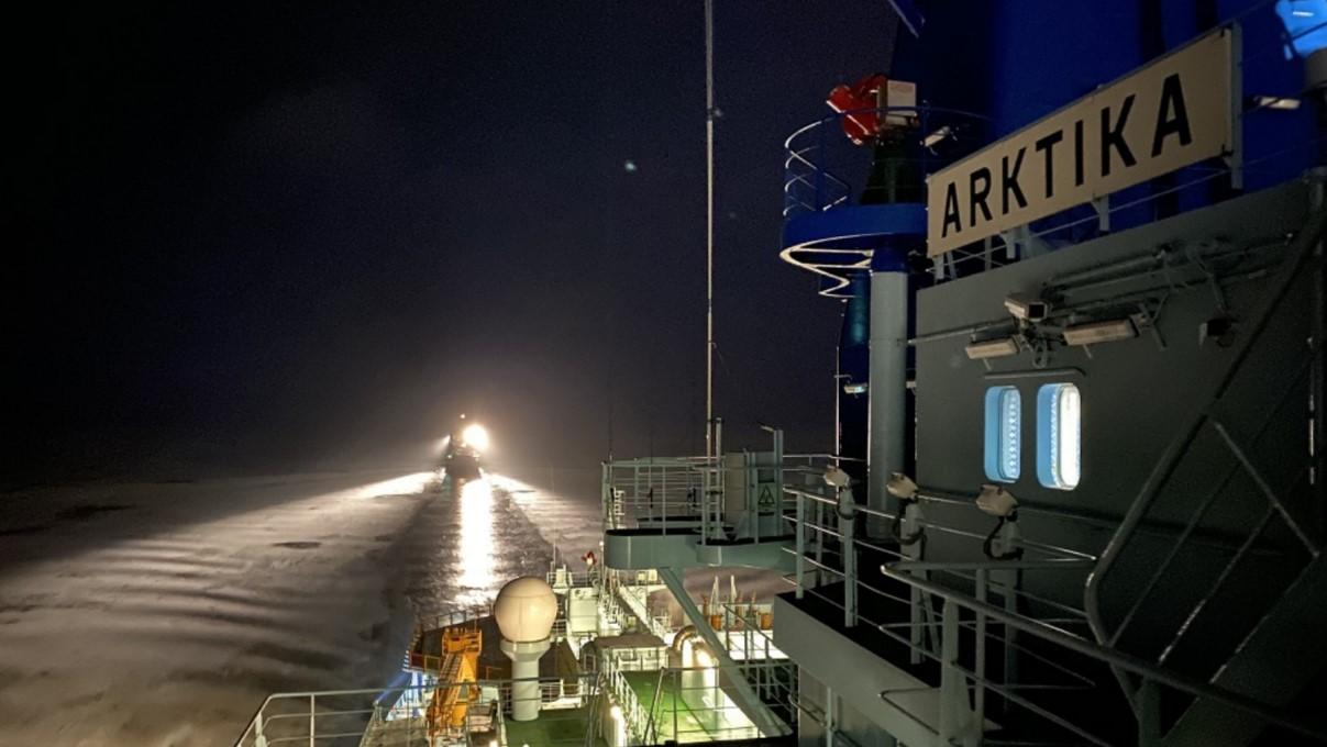 «Арктика» начала освоение Серного морского пути