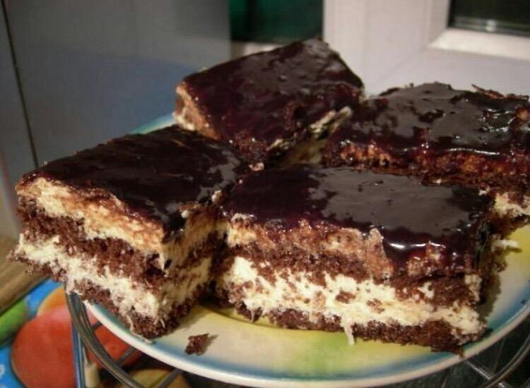 Божественно вкусный шоколадно-кокосовый торт