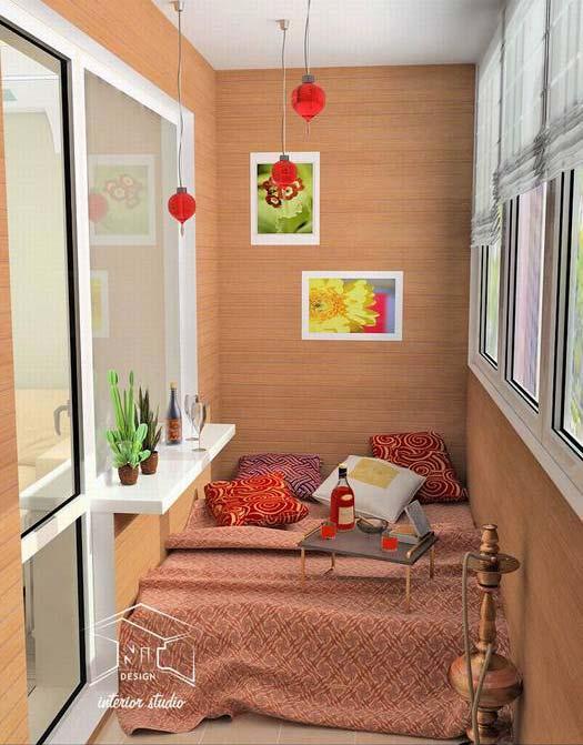 Идеи оформления закрытых балконов и лоджий