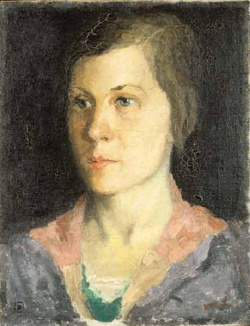 Портрет Натальи, жены художника. Автор: Казимир Малевич.