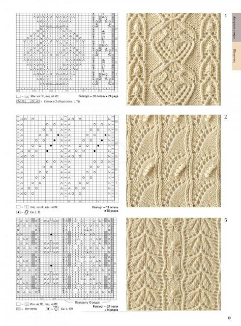 Большая книга японских узоров. Ажурные узоры. Часть 2