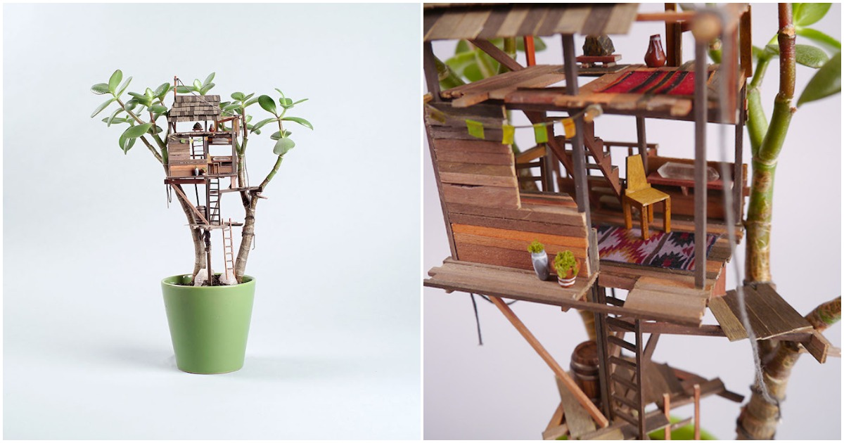 Дом в цветочном горшке: смело, креативно, необычно