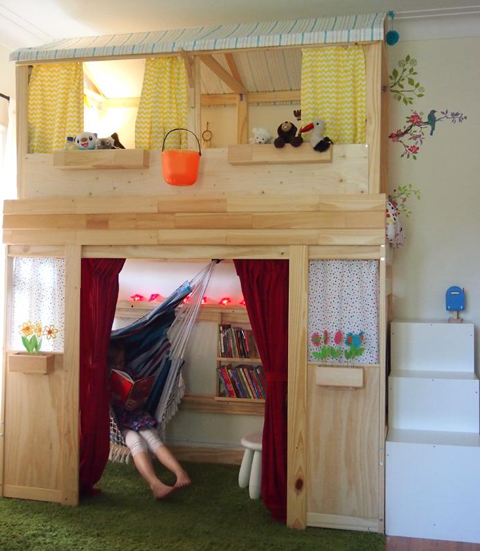 Как сделать двухуровневый домик из детской кровати
