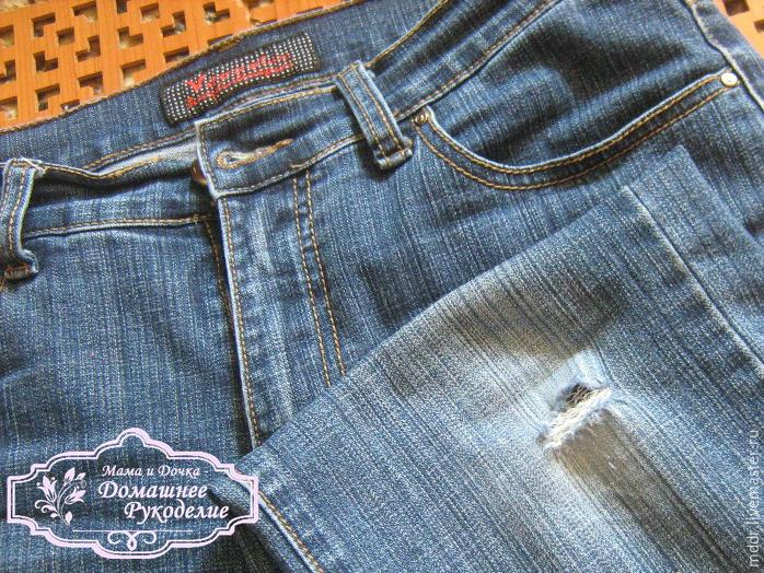 Делаем оригинальную заплатку на джинсы