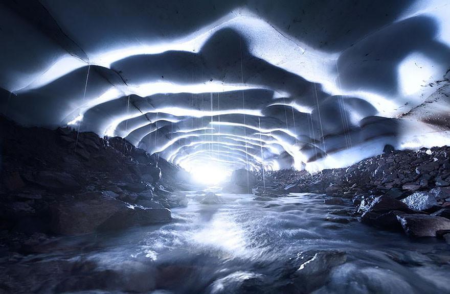 29. Ледяная пещера, Орегон, США земля, красота, планета, природа