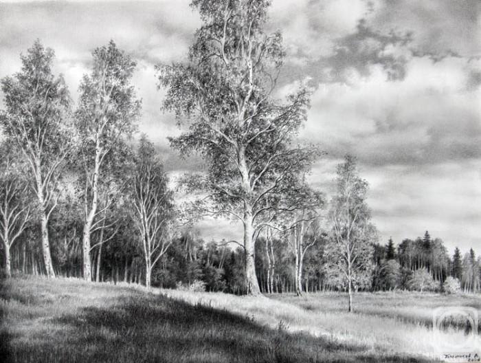 рисунки карандашом пейзажи - 11