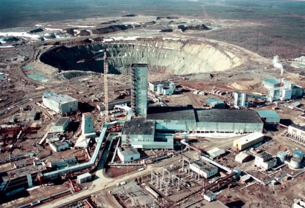 Алмазный карьер «Мир» республика Якутия, город Мирный история, ссср, факты