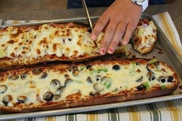 Быстро-пицца-хлеб за 10 минут
