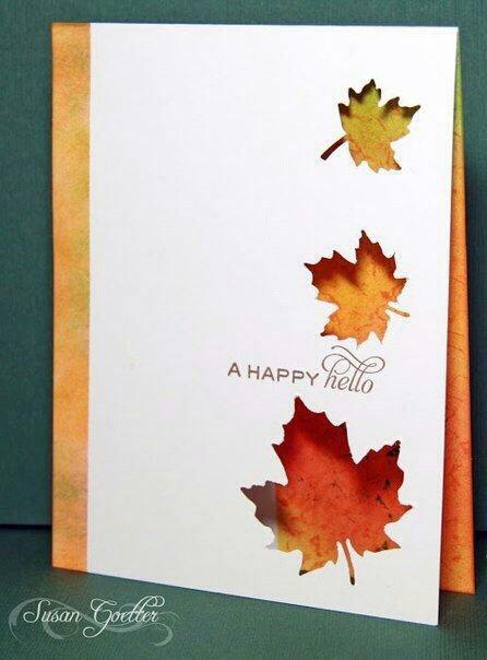 Именем, осенние открытки своими руками мастер