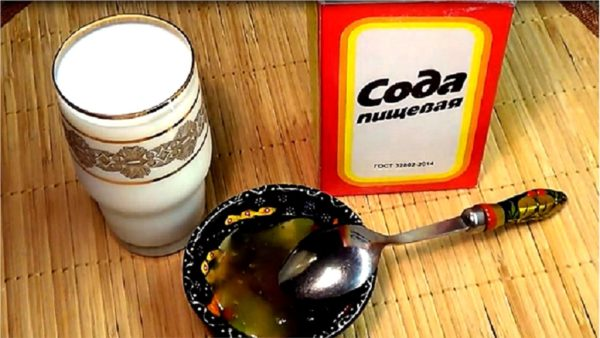 Сода, молоко и мёд
