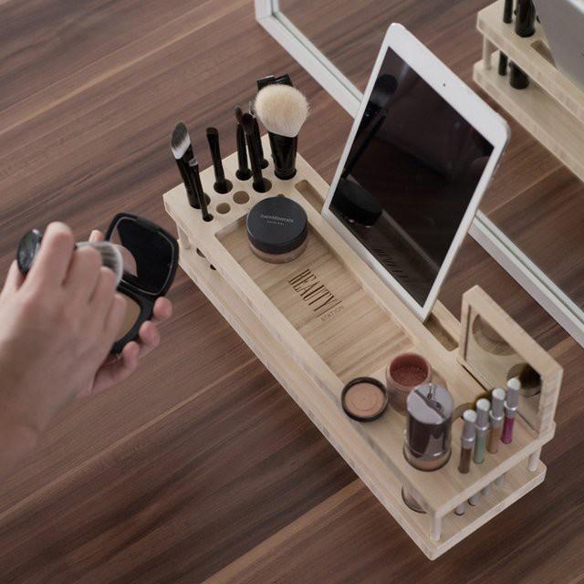 Органайзер для косметики и подставка для смартфона и планшета гаджет, дизайн, креатив
