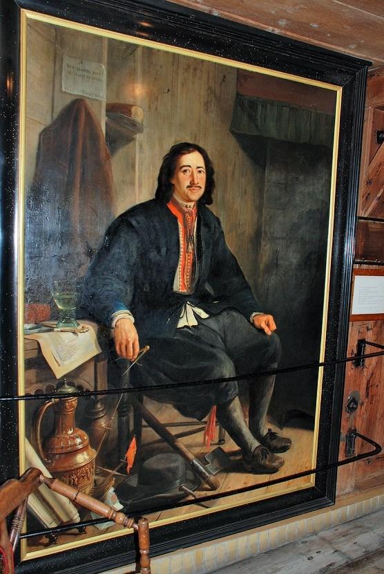 Малоизвестный портрет великого человека Голландия,Заандам,История России,Пётр Первый