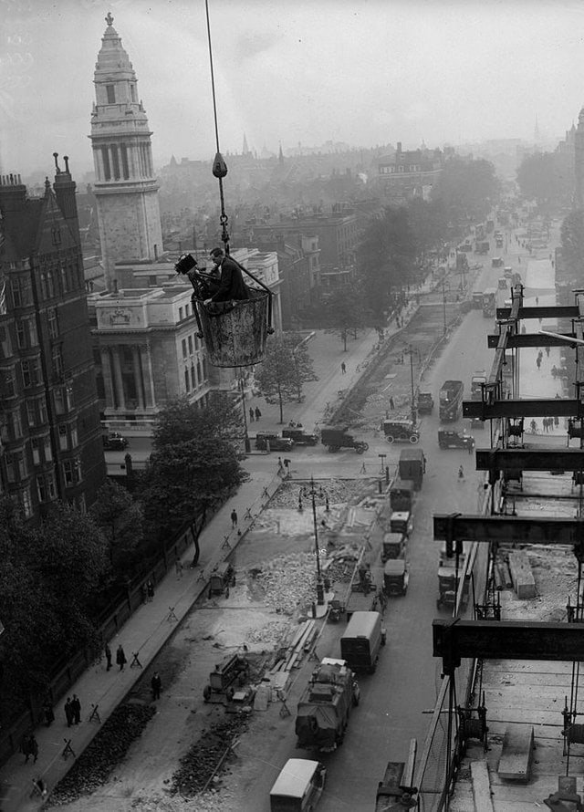 12. Оператор на Бейкер-стрит в Лондоне, 1930 в мире, высота, кадр, красота, люди, фото