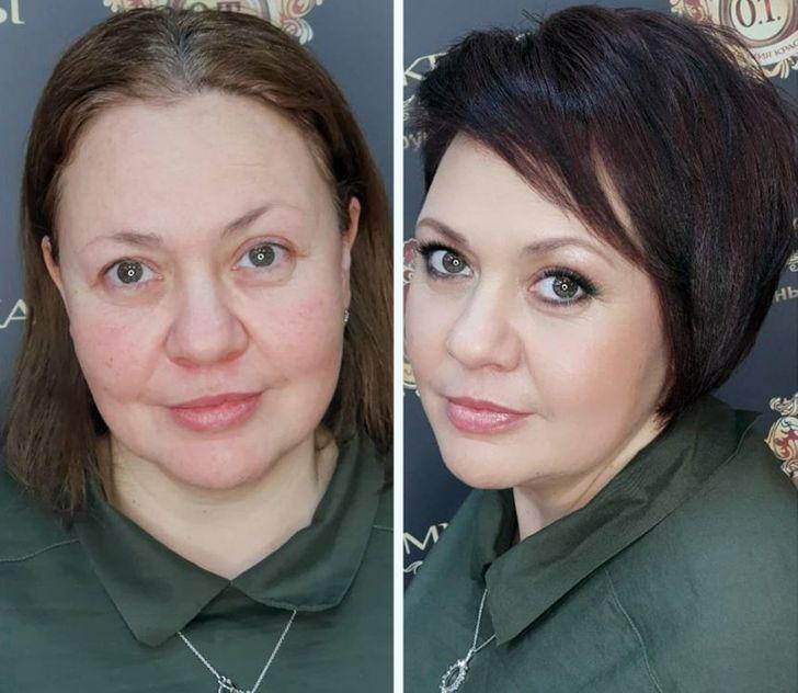 16 женщин решились на «слепое преображение», и получилось так круто, что некоторых теперь не узнать женщины,красота,макияж,прически