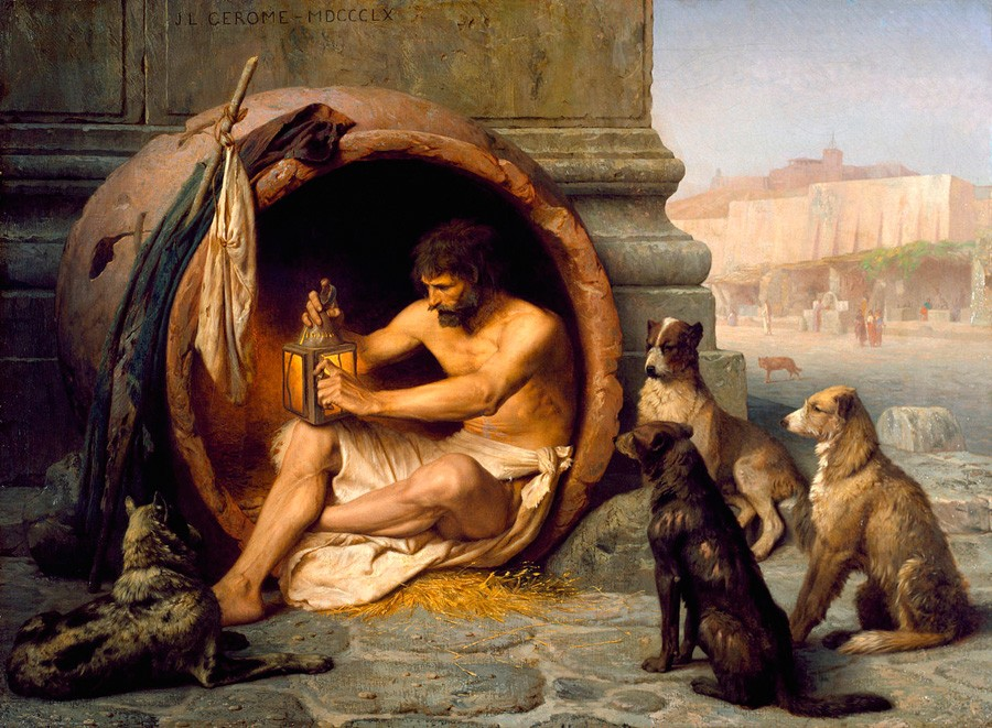 Где жил Диоген?
