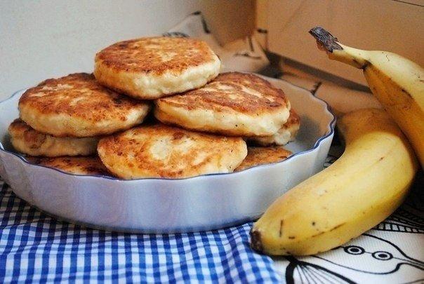 Сырники с бананом (без сахара)