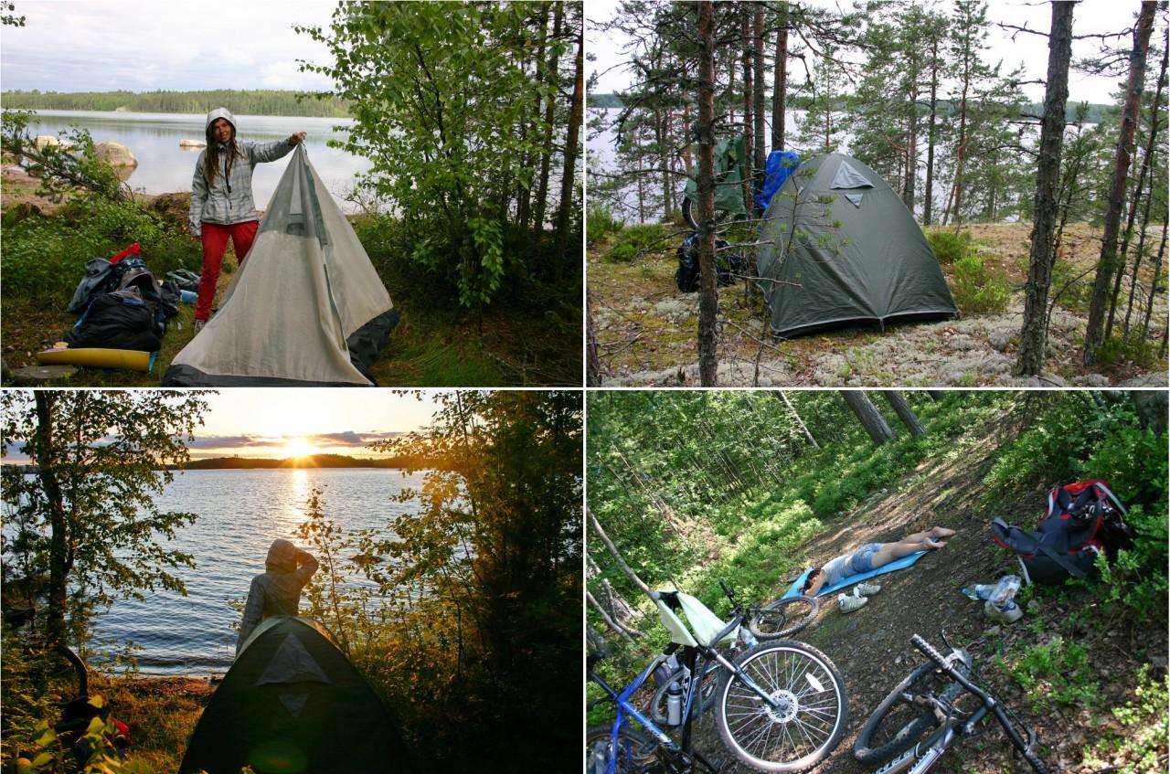 С палаткой в Финляндию