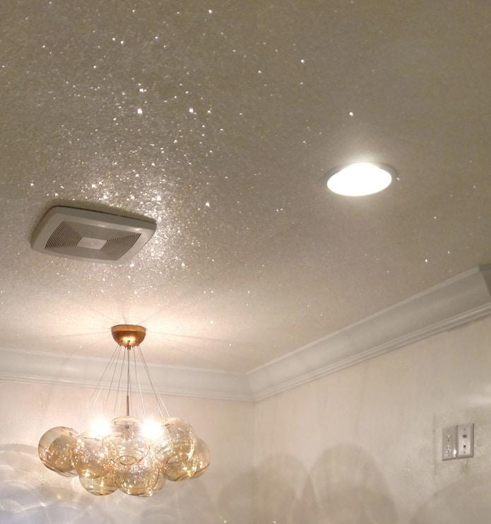 дизайн потолка губкой фото есть фильтры для