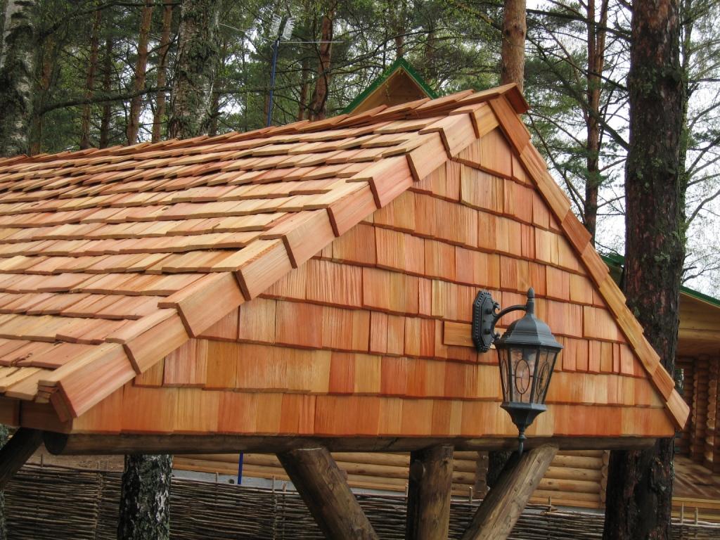 Крыша из дранки